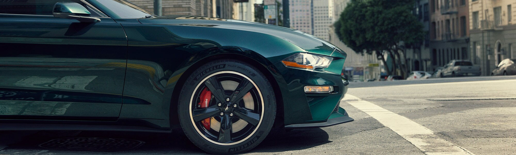 New Ford Mustang on the Road