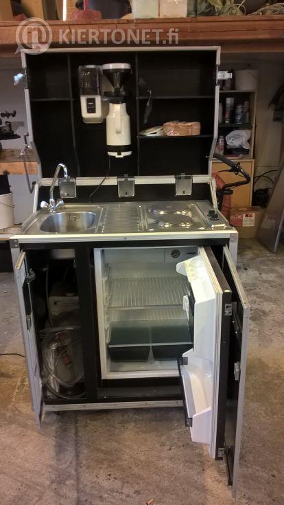 Pro art Kitcase  siirrettävä  keittiö  (allas, sähköliesi, kahvink