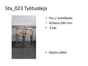 Korkeat tuolit