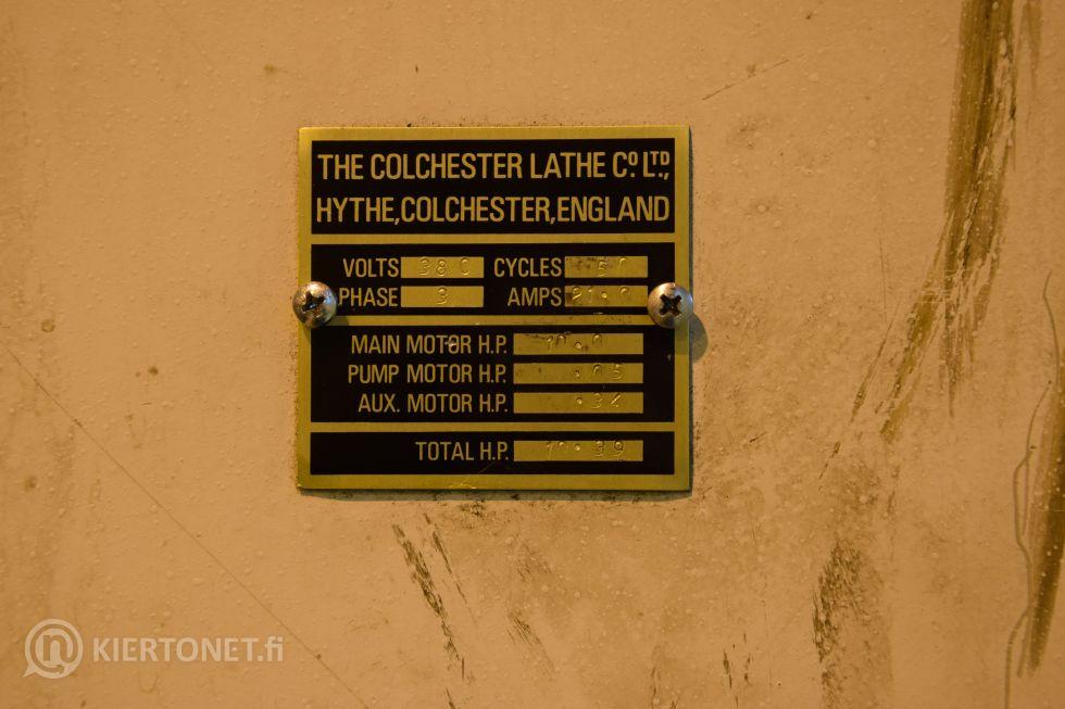 Kärkisorvi COLCHESTER MASTER 3250