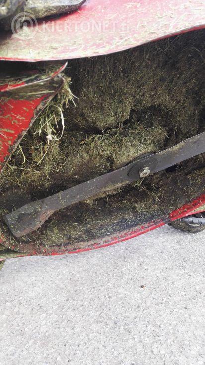 Muuli+trimmeri+työnnettävä ruohonleikkuri 2 kpl+lehtipuhallin