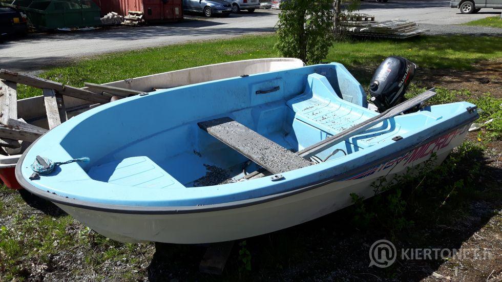 Lasikuituvene ja perämoottori