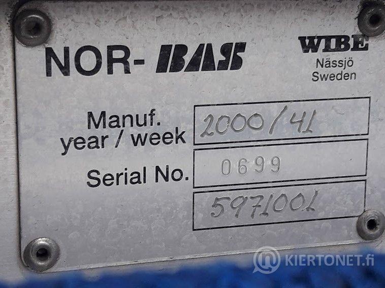 NOR-BAS-vetotikas 12,5m +kuljetusteline ajoneuvoon