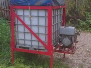 Vesisäiliö palopumpulla