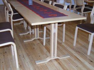 Koivuviilu pöytä 130x80  4 kpl
