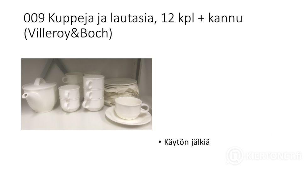 Kuppeja ja lautasia, 12 kpl + kannu (Villeroy&Boch)