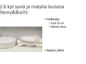 Villeroy&Boch lautasia