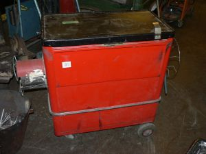 Työkaluvaunu punainen6kpl