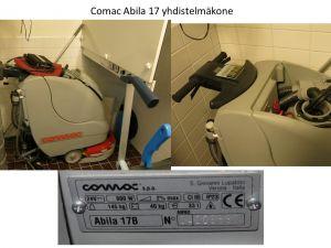 Myydään Piippolassa yhdistelmäkone siivoukseen Comac Abila 17