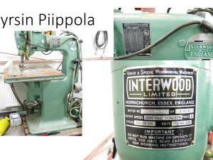 Myydään Piippolassa yläjyrsin Interwood OFC vm. 1987