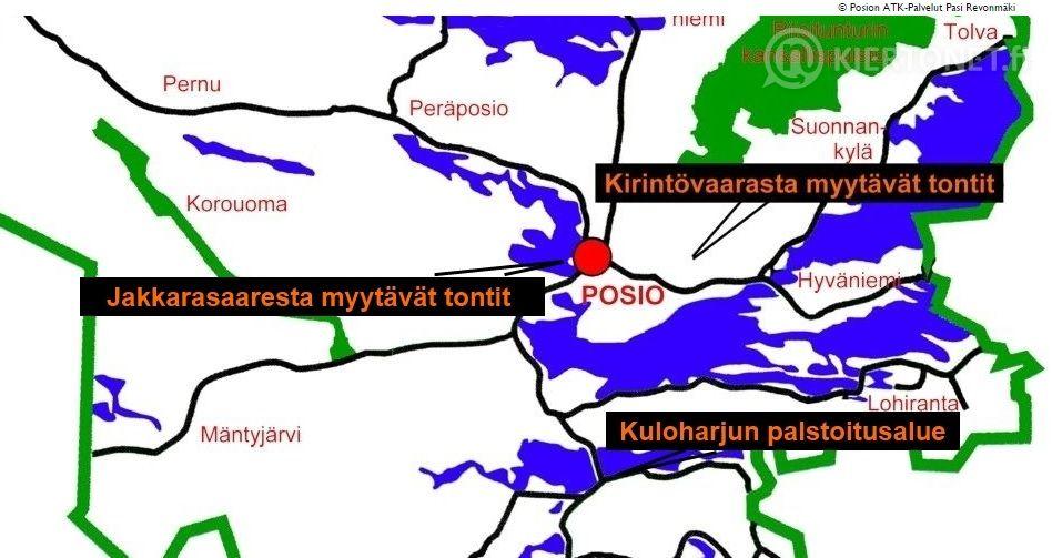 Omakotitontti Jakkarasaaren alueelta, nro 2083