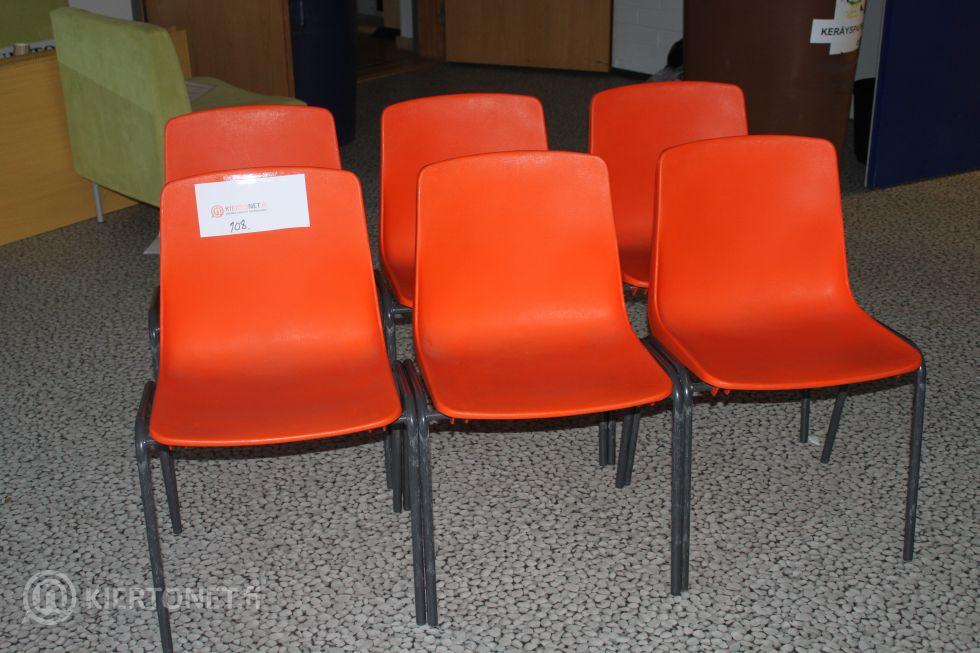 "Oranssit ""retrotuolit"" 6 kpl - nro. 108"