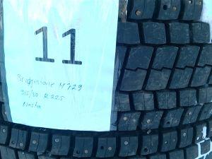 Kuorma-auton nastarenkaat Bridgestone M729, 315/80 R 22,5 2 kpl.