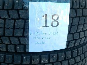 Kuorma-auton nastarenkaat Bridgestone M 729, 315/80 R 22,5 2 kpl.