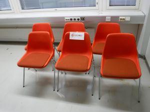 Oranssit tuolit 6 kpl - nro 201