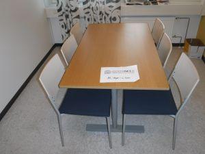 Pöytä ja 6 tuolia nro 91