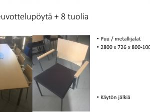Neuvottelupöytä + 8 tuolia