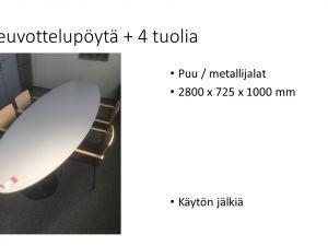 Neuvottelupöytä + 4 tuolia