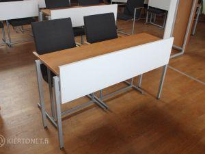 Valtuustosalin pöytä ja kaksi tuolia, 2 kpl - nrot 123 ja 124