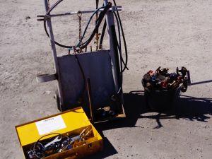 Kaasupullovaunu + tarvikkeet