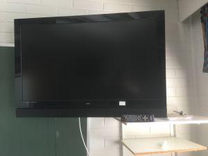 Flatsonic televisio, seinätelineellä.