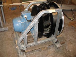 Iso sähkömoottori + puhallin Weg