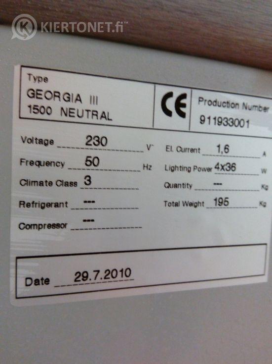 Metos Georgia III 1500 neutral -konditorialasikko, käyttämätön!