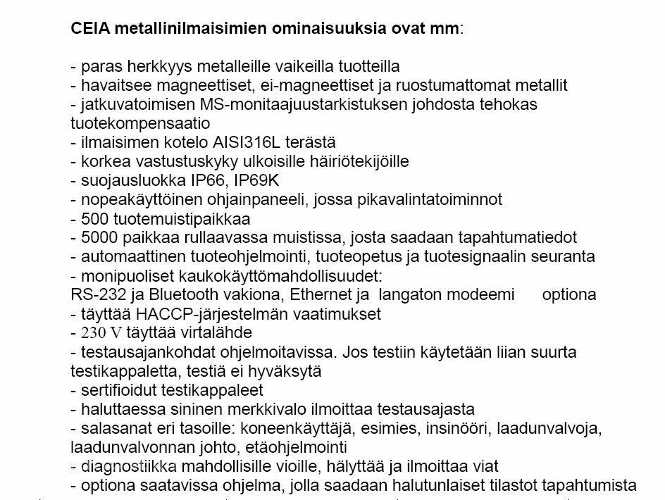 Metallinpaljastin Ceia THS/21