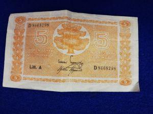 5 markan setelit 3 kpl v.1945