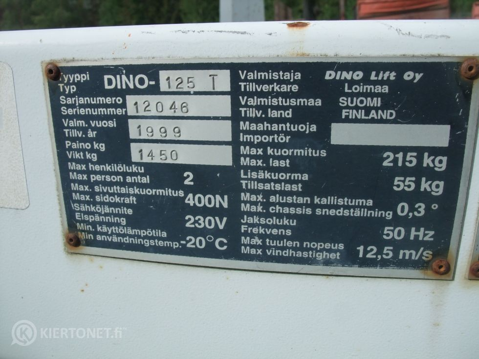 Dino 125 T henkilönostin