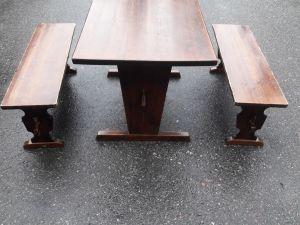 Pirtinpöytä ja 2 penkkiä (2)