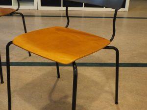 Tuoleja, musta/puu, 3 kpl (14)