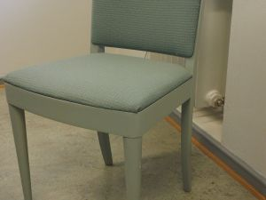 Tuoleja, kangas, vihertävä harmaa, 3 kpl (2)