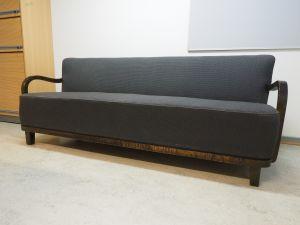 Sohva, kangas, tumma puu/harmaa, 1 kpl (1)