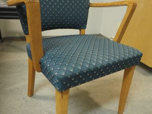 Tuoli, kangas, puu/sininen, 1 kpl (2)