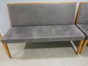 Sohva, verhoiltu, puu/harmaa, 5 kpl (1)