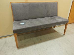 Sohva, verhoiltu, puu/harmaa, 3 kpl (1)