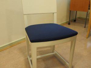 Tuoli, puu/kangas, valkoinen/sininen 8 kpl (2)