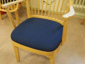 Tuoli, puu/kangas, sininen 3 kpl (3)