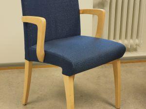 Tuoleja, kangasverhoilu, sininen, 12 kpl (1)