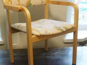 Tuoli, puu, kangas, 1 kpl (6)