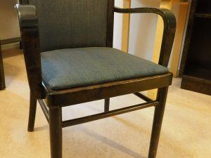 Tuoli, tumma puu, kangas, 4 kpl (7)
