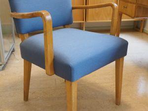 Tuoli, puu, kangas, 1 kpl (2)
