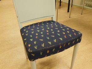 Tuoli, puu, kangas, 1 kpl (5)