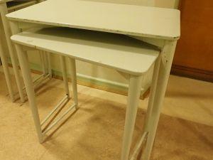 Pöytä, puu, vaalea, iso ja pieni, 2 kpl (12)
