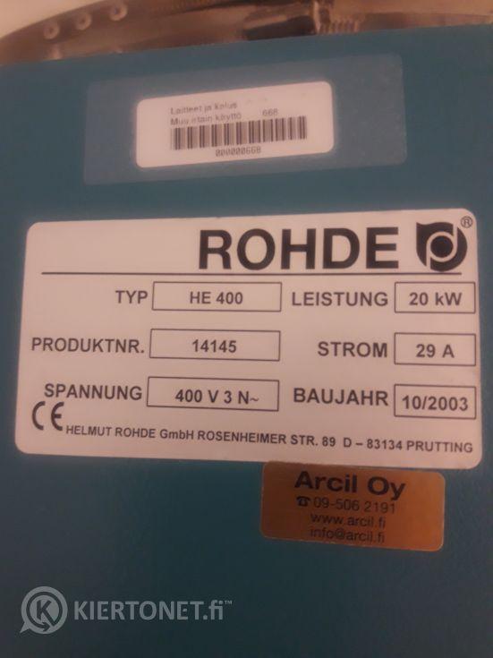 Rohde HE 400 keramiikkauuni