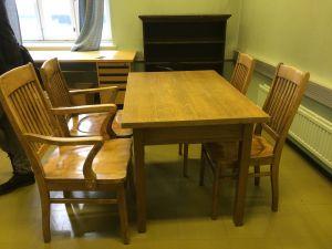 Billnäs sarja, pöytä ja 4 tuolia