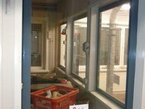Verkkolasi-ikkuna metallipuitteella (306)