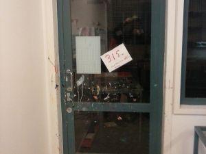 Verkkolasi-ovi metallipuitteella (315)
