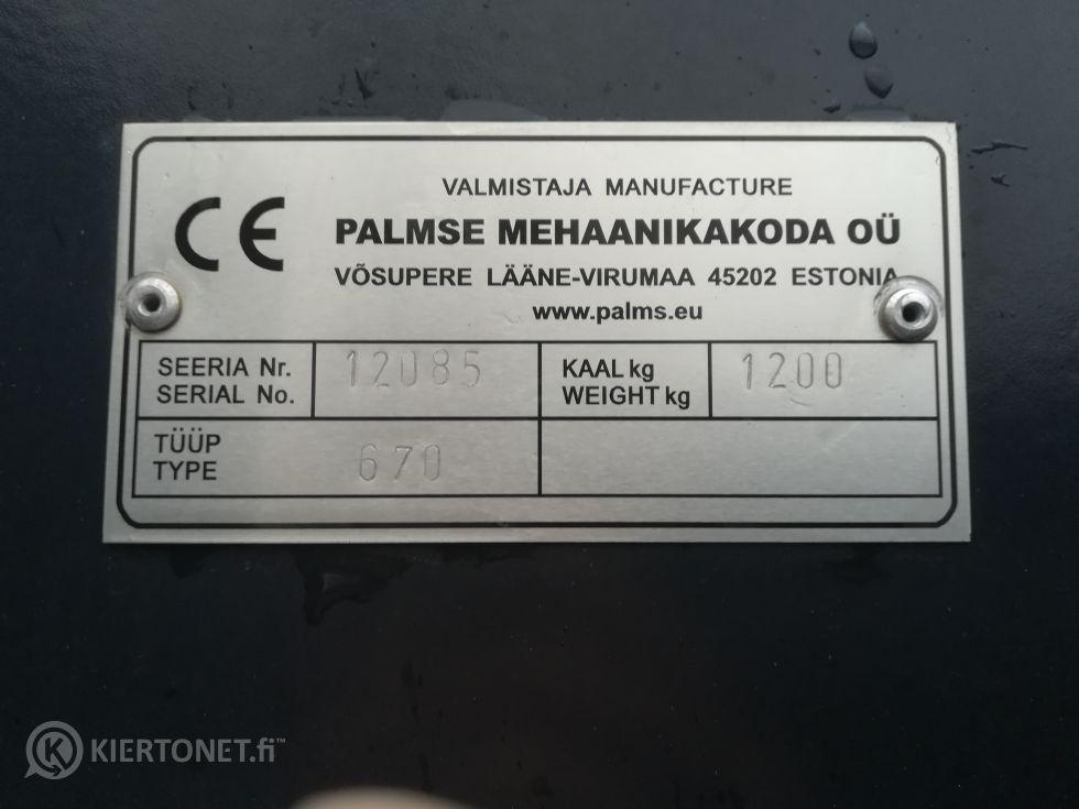 PALMS -metsäkärry kuormaimella
